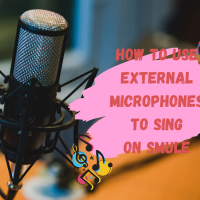 How to use external microphones to sing on Smule App